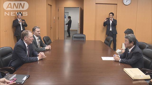 日米閣僚で貿易協議 首脳会談前に溝埋まらず