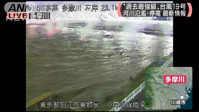 多摩川 氾濫