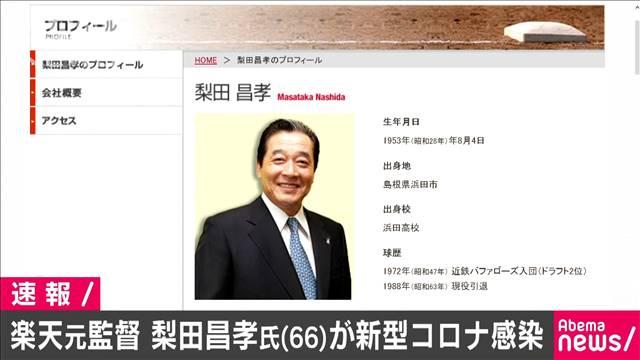 楽天元監督・梨田昌孝氏(66)新型コロナ感染で入院