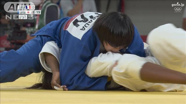 柔道女子78kg級 濱田尚里が初出場で金メダル