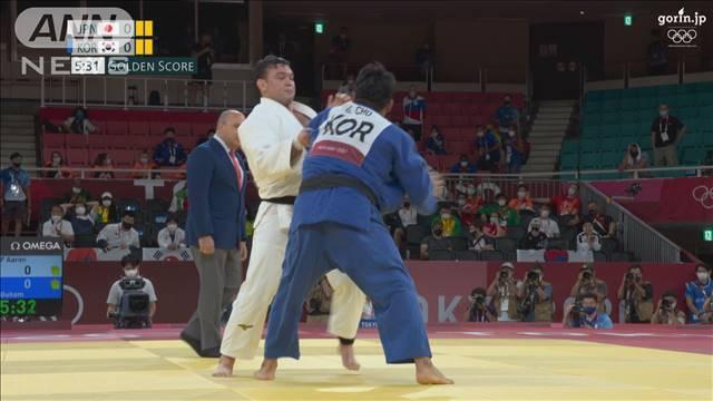 柔道男子100kg級のウルフアロン 一本勝ちで「金」