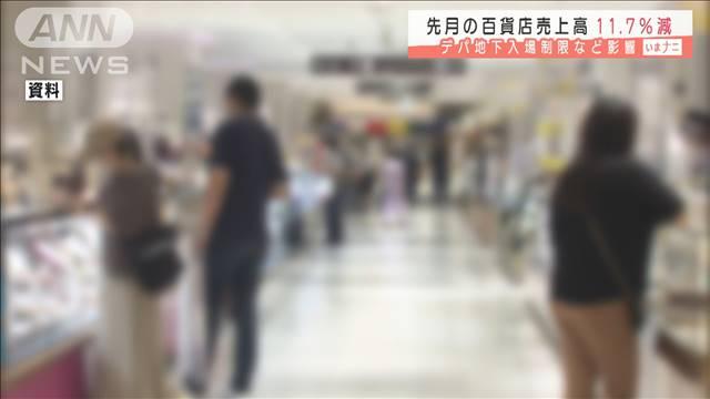 百貨店売上高11.7%減 デパ地下入場制限など影響の画像